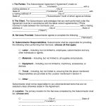 Free Subcontractor Agreement Templates   Pdf   Word   Eforms – Free   Free Printable Subcontractor Agreement