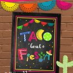 Free Taco 'bout A Fiesta Printable Sign | Fiesta | Free Taco, Taco   Free Printable Taco Bar Signs