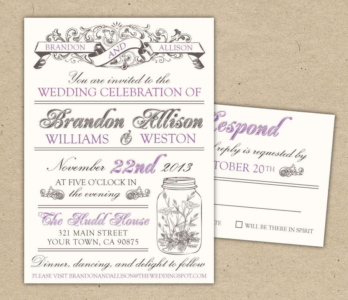 Free Templates For Invitations   Free Printable Vintage Wedding - Printable Invitation Templates Free Download
