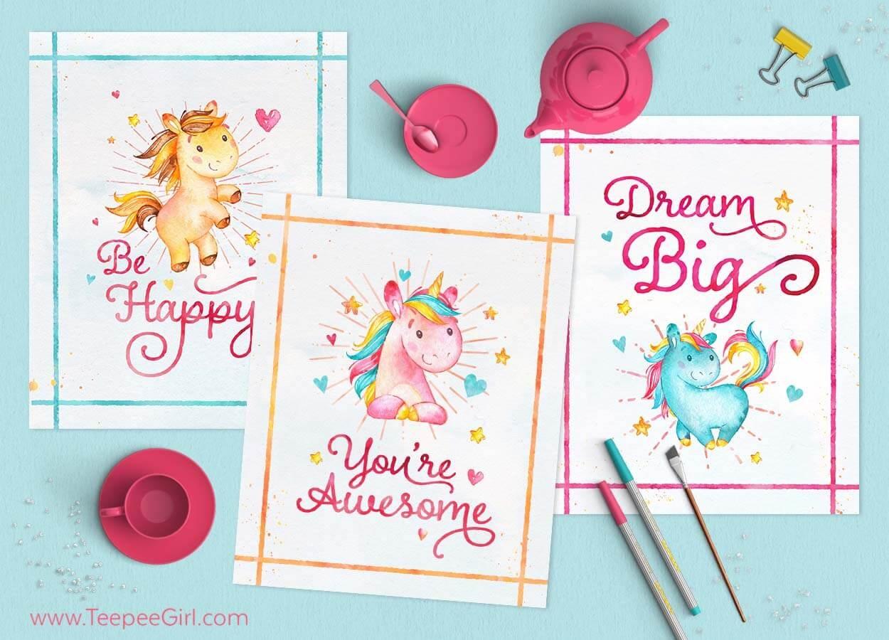 Free Unicorn Printables - Unicorn Name Free Printable