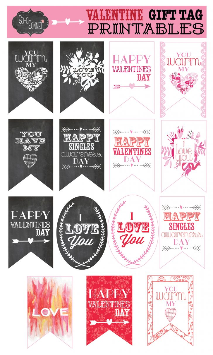 Free Printable Valentines Day Tags