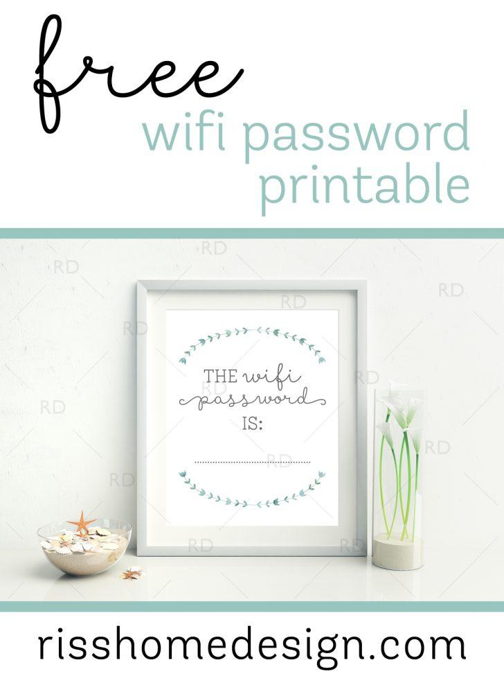 Free Printable Wifi Sign