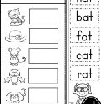 Free Word Family At Practice Printables And Activities | Teaching   Free Printable Cvc Worksheets