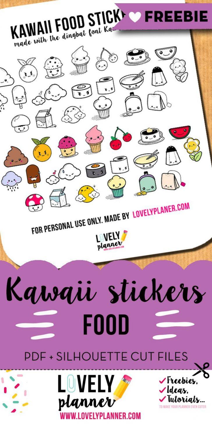 Free Printable Kawaii Stickers