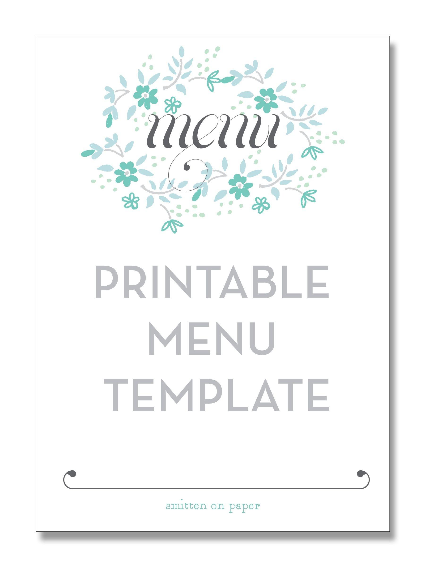 Freebie Friday: Printable Menu   Party Time!   Printable Menu, Menu - Free Printable Wedding Menu Card Templates