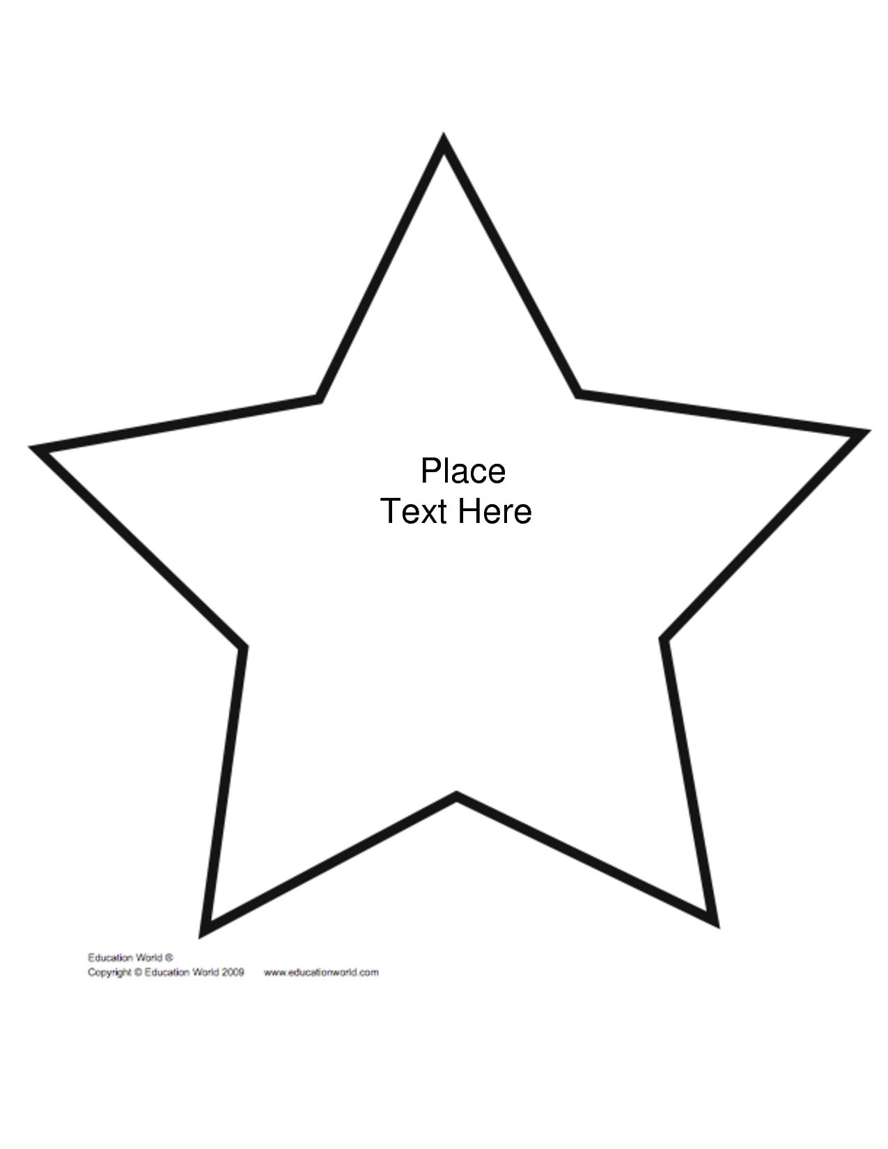 Free+Printable+Star+Shape+Templates | Biblical Preschool Lessons - Free Shape Templates Printable