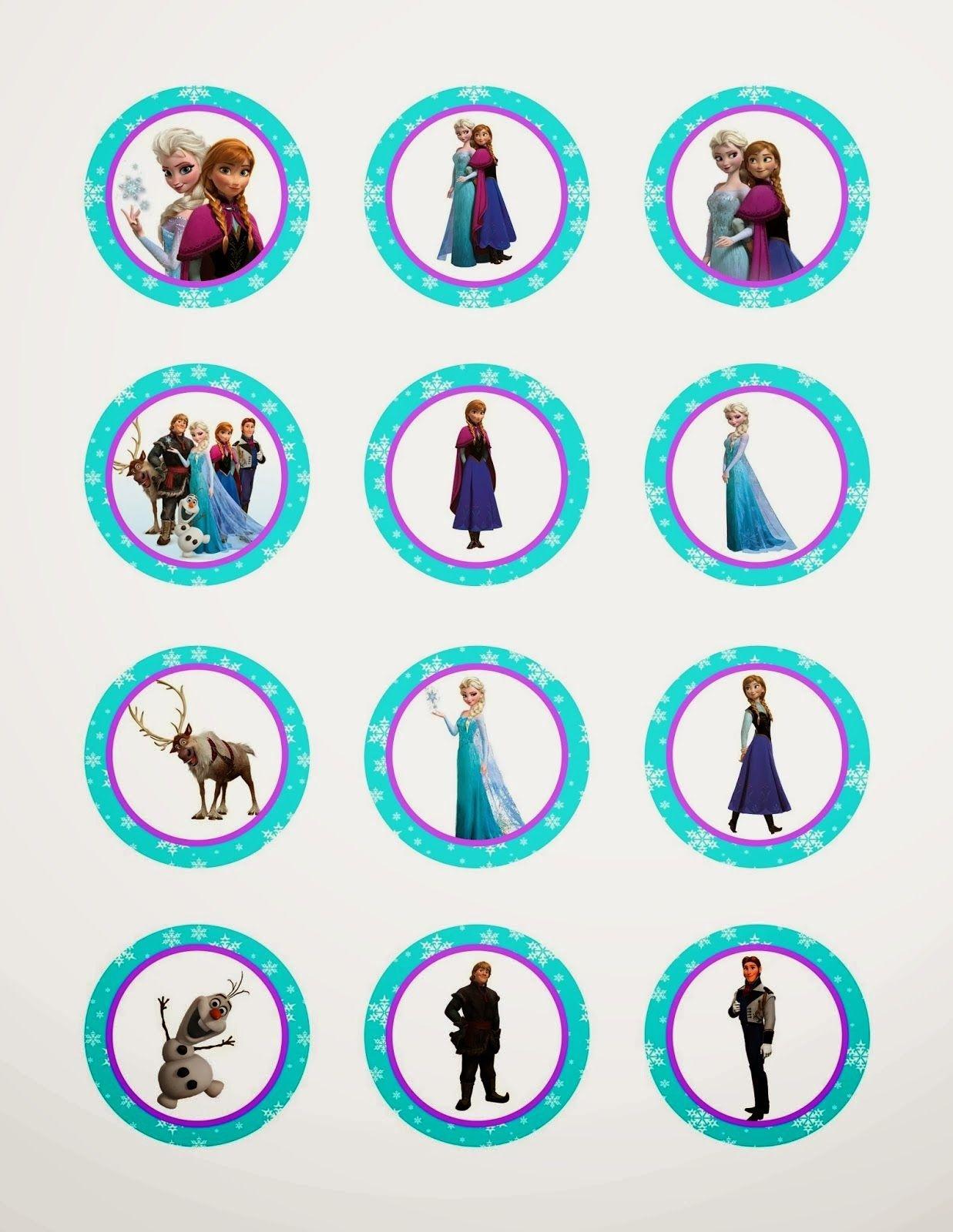 Frozen Cupcake Ideas Frozen: Free Printable Toppers   Birthday - Frozen Cupcake Toppers Free Printable