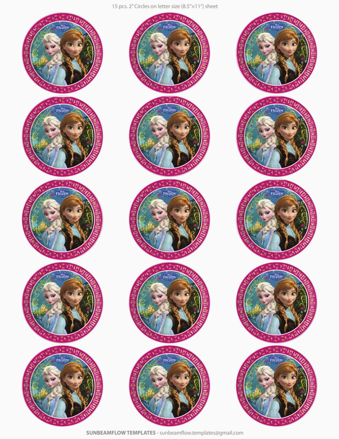 Frozen: Free Printable Toppers.   Oh My Fiesta! In English   Frozen - Frozen Cupcake Toppers Free Printable