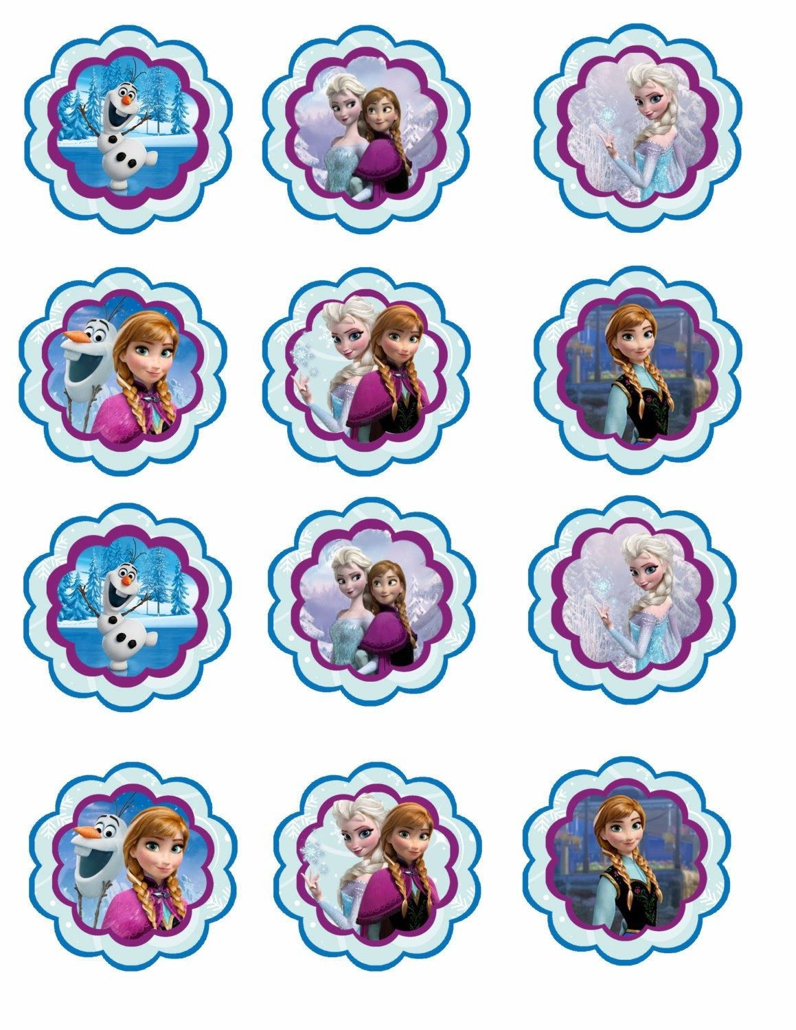 Frozen: Free Printable Toppers.   Recipes To Cook   Frozen Cupcakes - Frozen Cupcake Toppers Free Printable