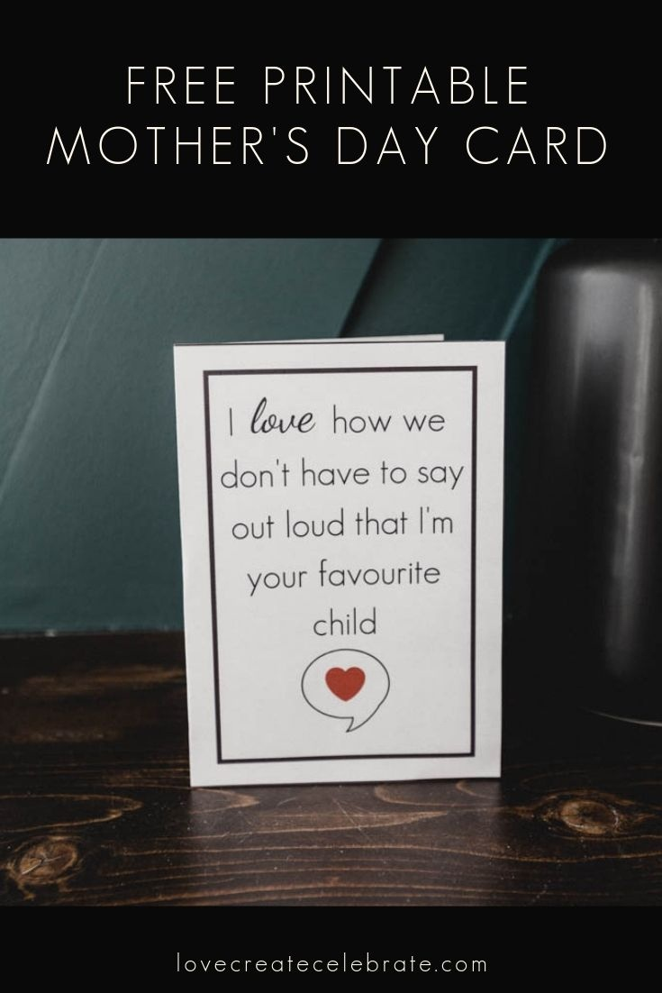 Funny Mother's Day Card [Free Printable | Love Create Celebrate - Free Printable Funny Mother's Day Cards