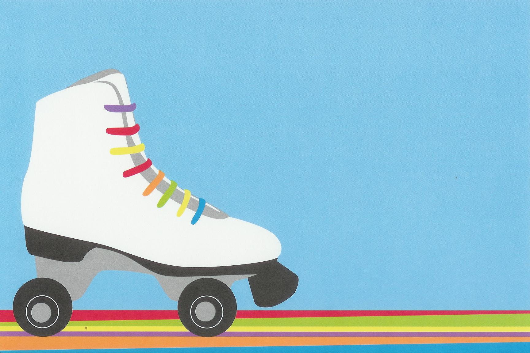 Get Free Printable Roller Skating Invitation Template | Free Baby - Free Printable Roller Skate Template