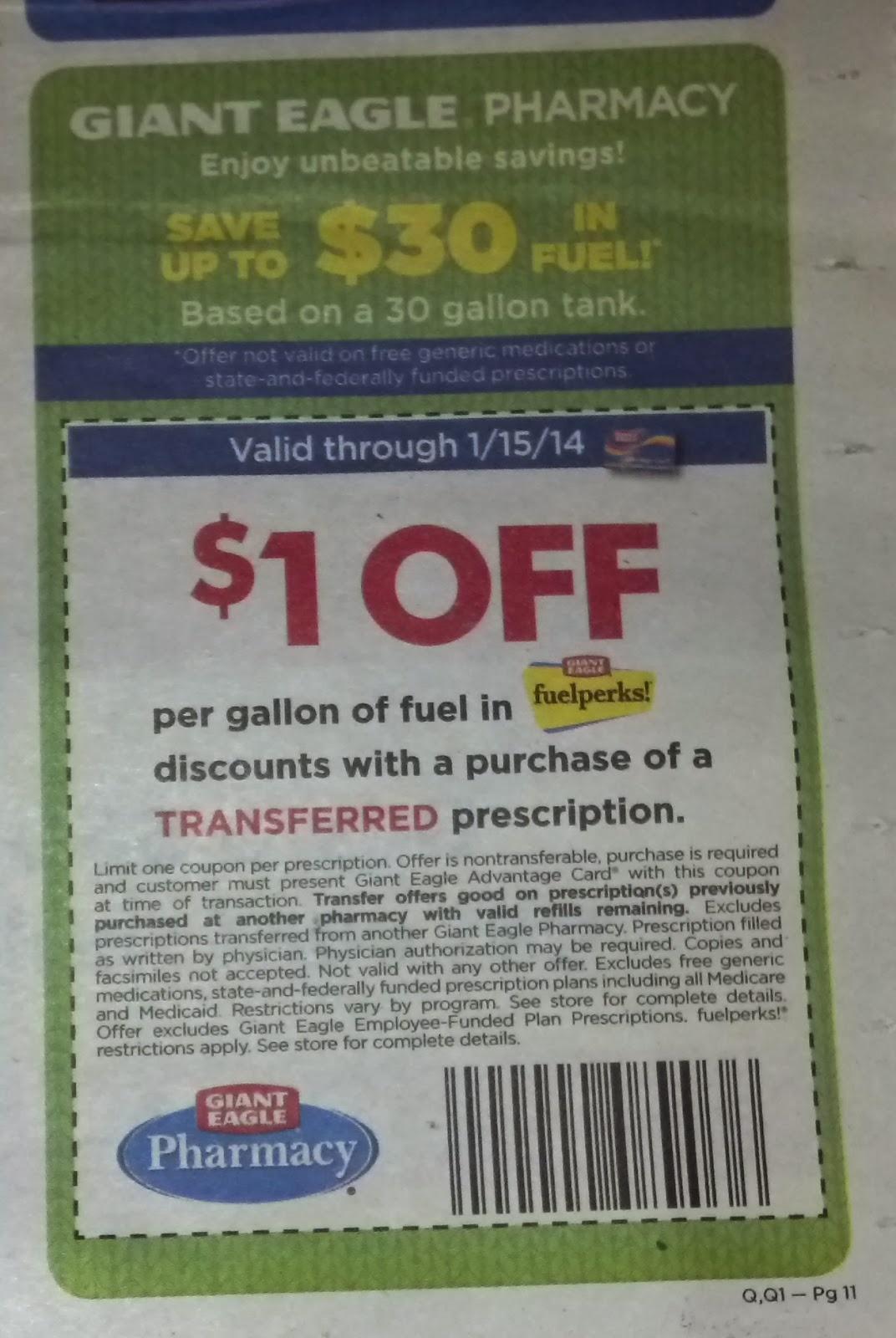Giant Eagle Pharmacy Transfer Coupon / Deals Gone Wild Kitchener - Free Printable Giant Eagle Coupons