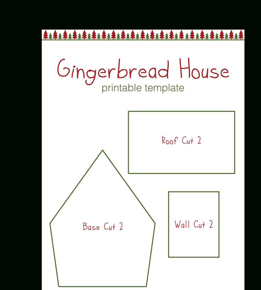 Gingerbread House Templates For Free   Temploola - Gingerbread Template Free Printable