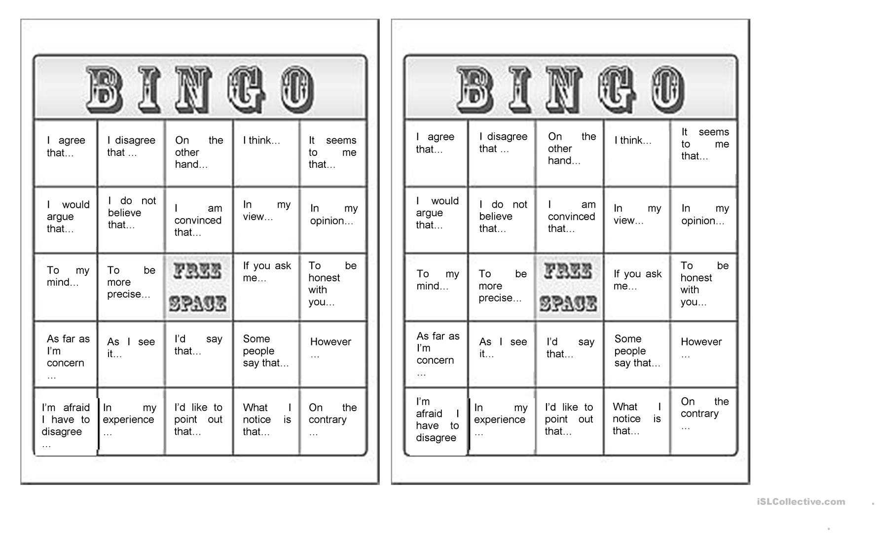 Givin Arguments Bingo Worksheet - Free Esl Printable Worksheets Made - Free Printable Parts Of Speech Bingo
