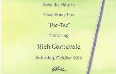 Golf Portion Of Rich's 60Th Birthday Party Invitationglad – Free Printable Golf Stationary