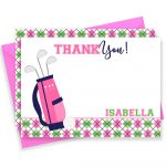 Golf Thank You Card Golf Thank You Golf Note Cards Golf   Etsy   Free Printable Golf Stationary