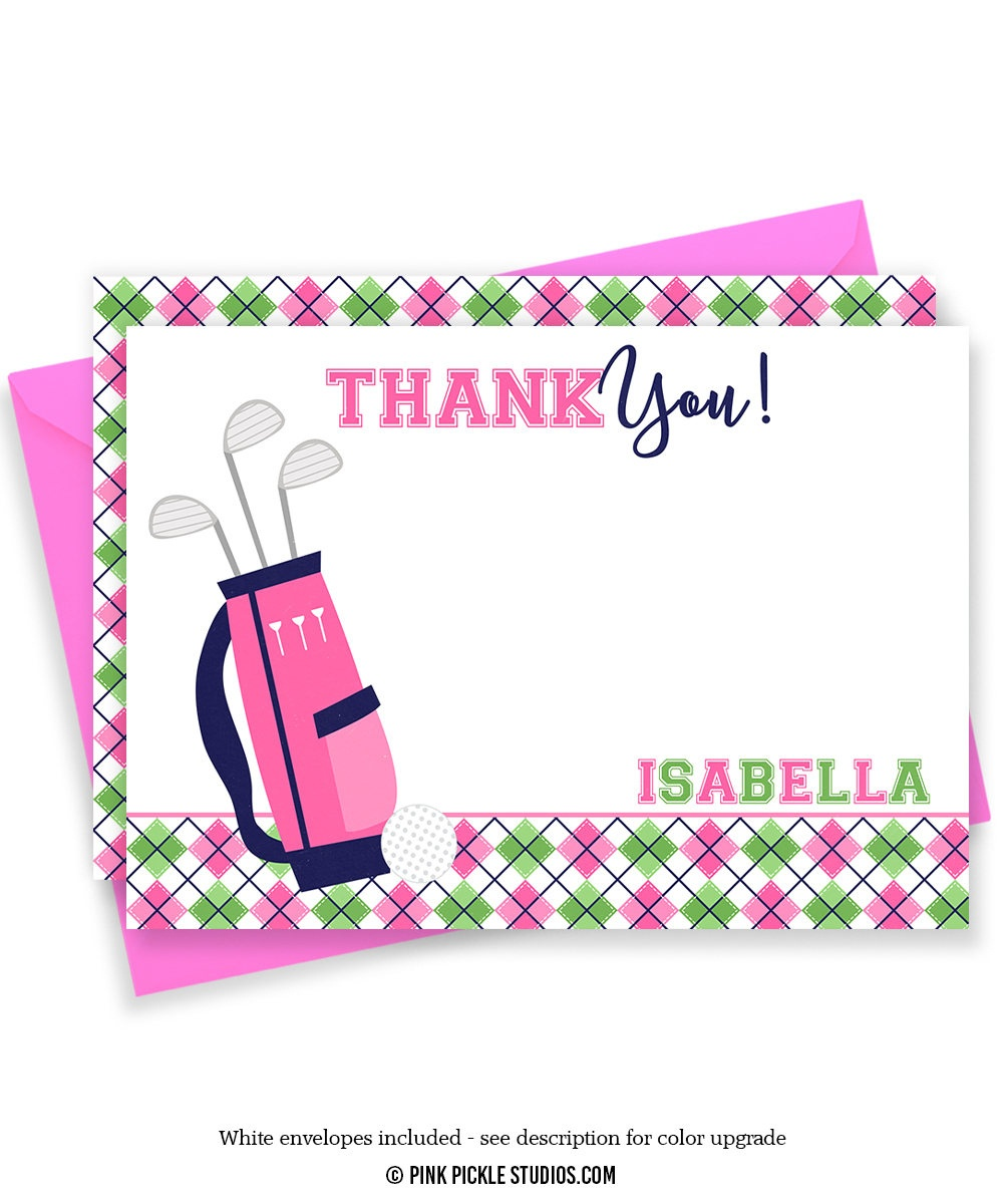 Golf Thank You Card Golf Thank You Golf Note Cards Golf   Etsy - Free Printable Golf Stationary