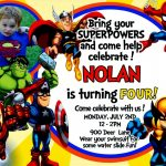 Great Of Avengers Birthday Invitation Templates Free Free Infinity   Avengers Party Invitations Printable Free