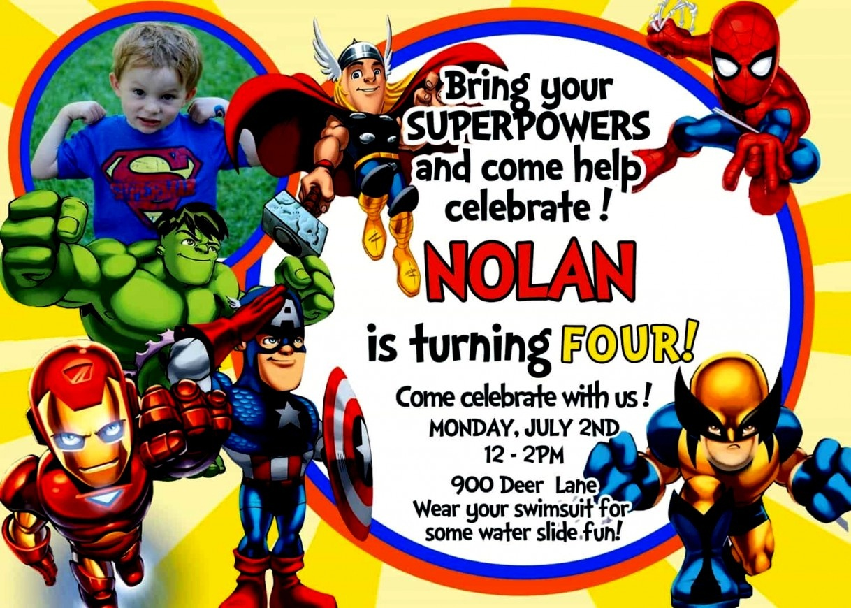 Great Of Avengers Birthday Invitation Templates Free Free Infinity - Avengers Party Invitations Printable Free