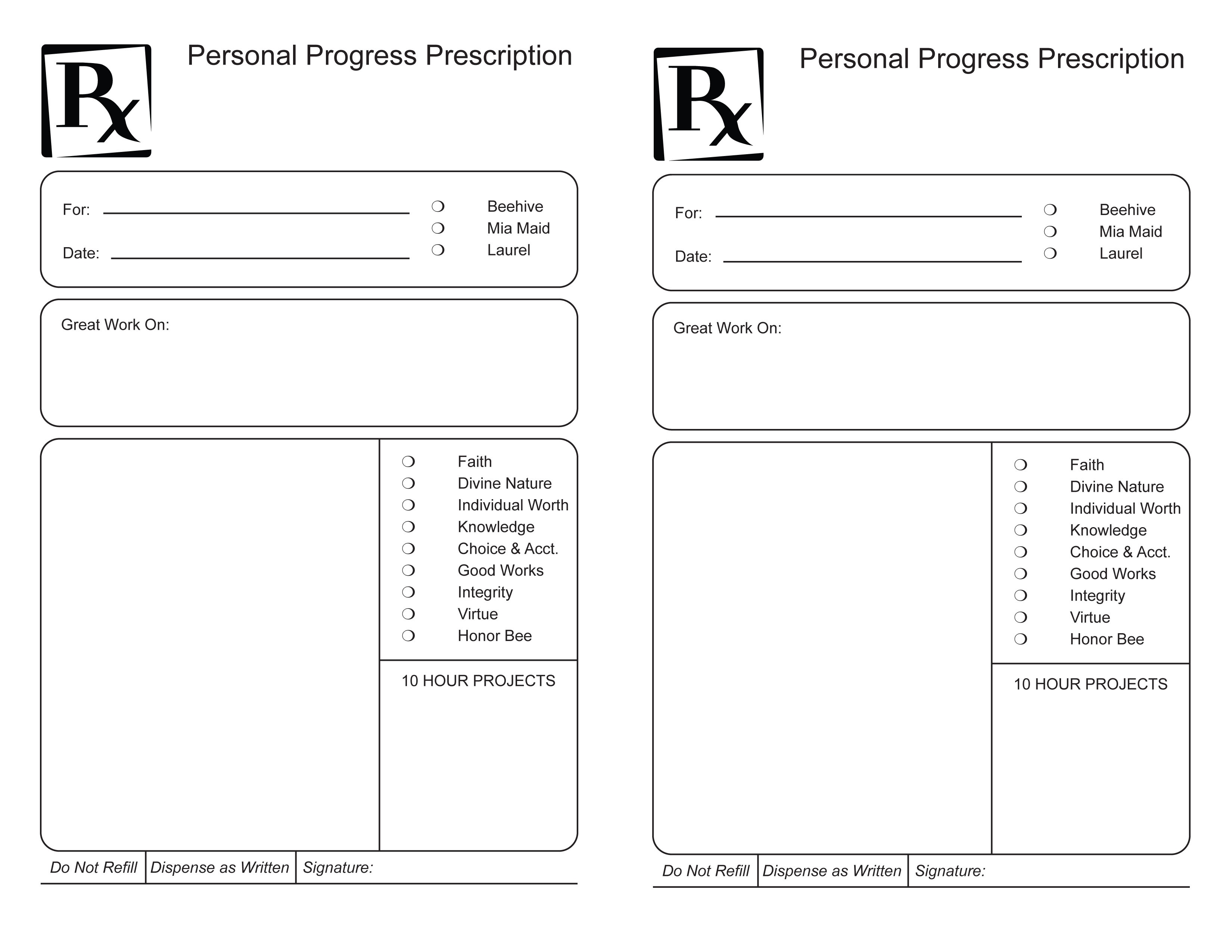 Great Template For Prescription Pad Photos. Prescription Pad - Free Printable Prescription Pad