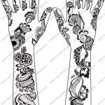Grey Ink Henna Tattoos Designs For Both Arm   Free Printable Henna Tattoo Designs