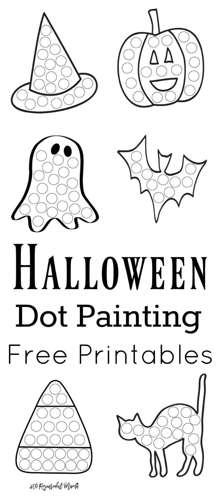 Halloween Dot Painting {Free Printables} | Halloween | Painting - Free Printable Halloween Activities
