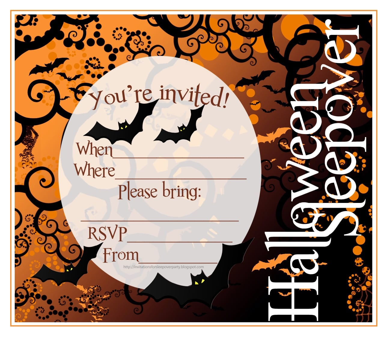 Halloween Party. Free Printable Halloween Invites. Printable - Free Printable Halloween Invitations For Adults