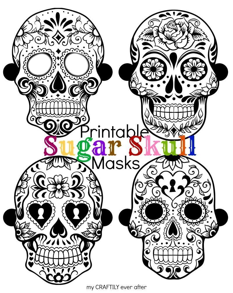 Halloween: Printable Sugar Skull Masks - See Vanessa Craft - Free Printable Sugar Skull Day Of The Dead Mask