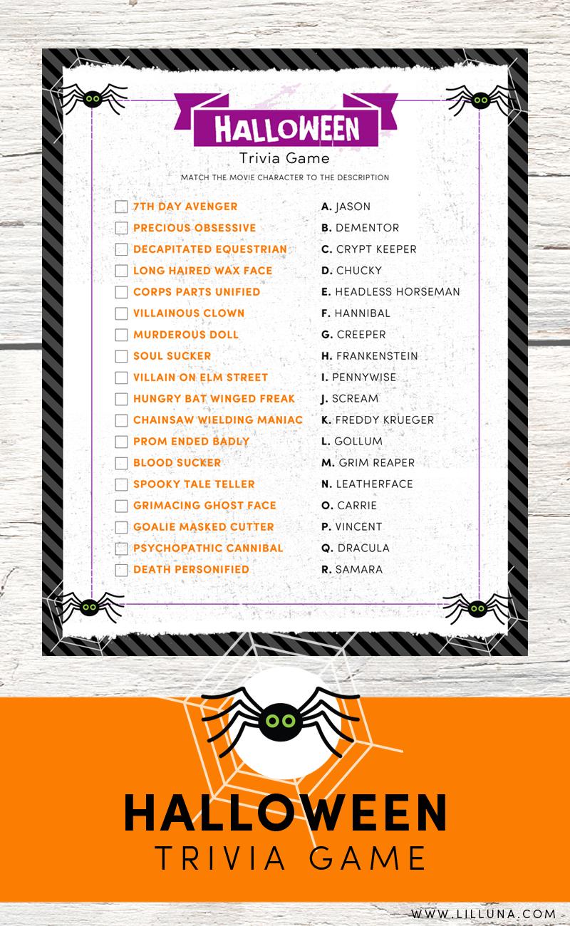 Halloween Trivia Print   Holidays - Halloween & Fall Wreaths - Free Printable Halloween Quiz
