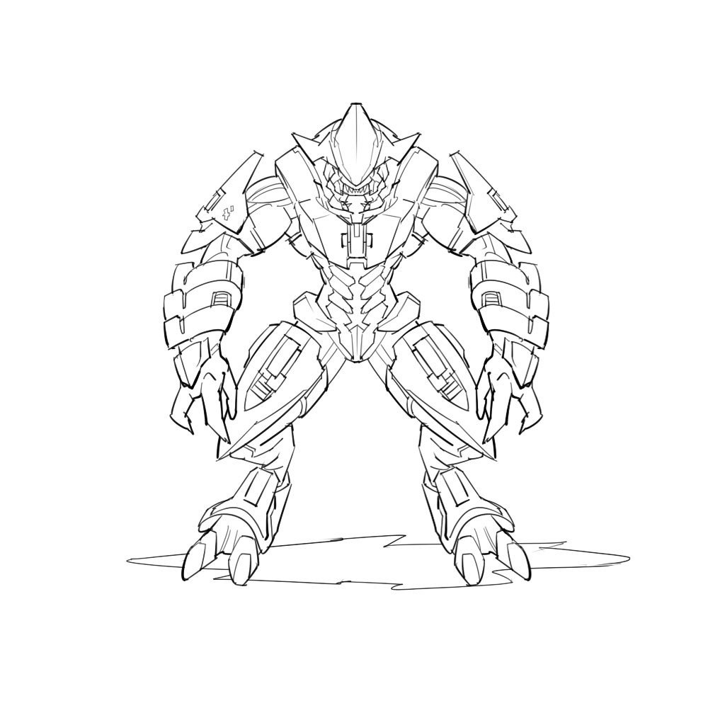 Halo 5 Coloring Pages. Fierce Halo Coloring Pages Halo 5 Coloring - Free Printable Halo Coloring Pages
