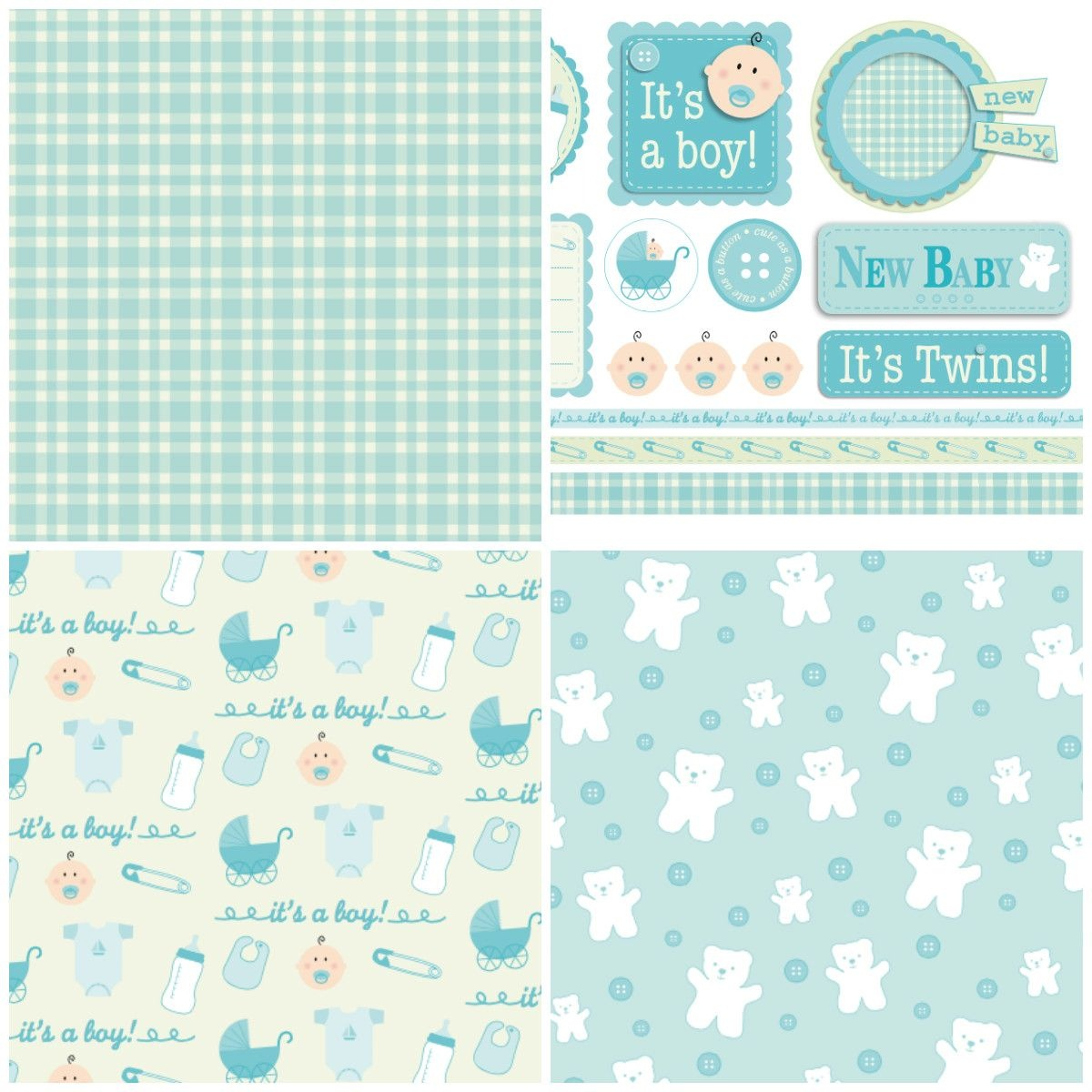 Handmade For Babies – Free Papers   Printable Papers   Digital Paper - Free Printable Scrapbook Stuff