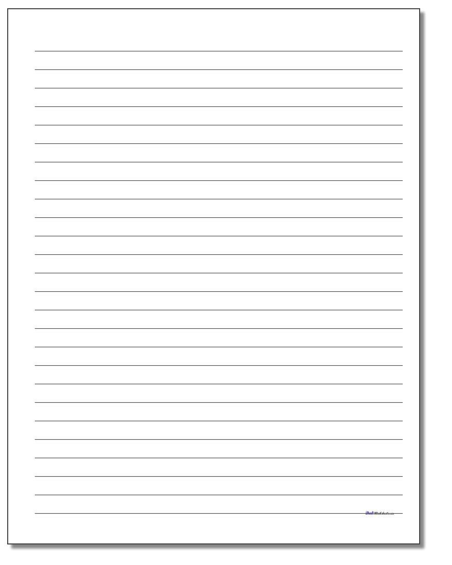 Handwriting Paper - Free Printable Lined Handwriting Paper