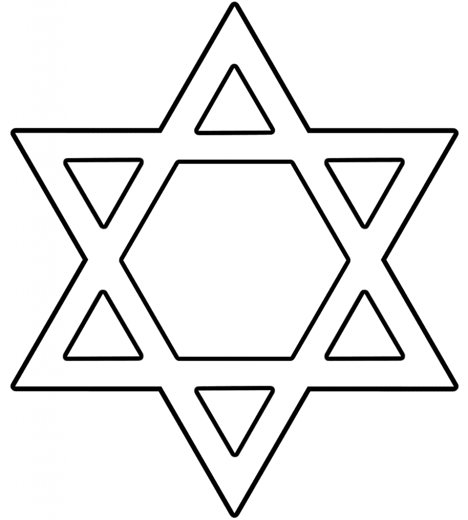 Hanukkah Coloring Pages   Free Download Best Hanukkah Coloring Pages - Star Of David Template Free Printable