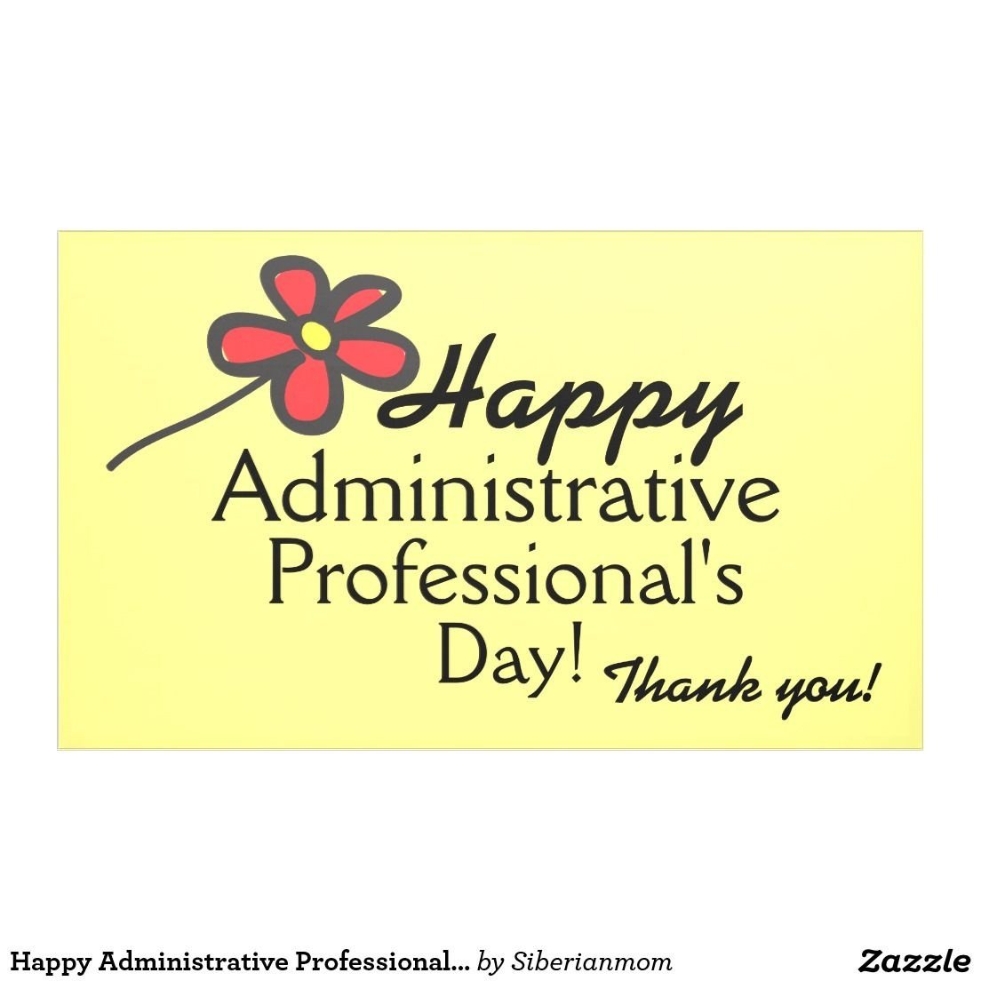Happy Administrative Professional's Day Banner   Zazzle - Administrative Professionals Cards Printable Free