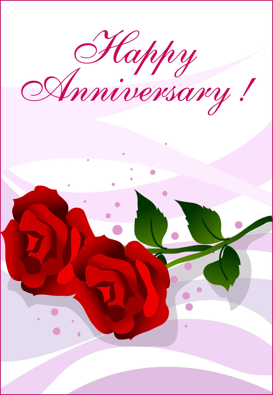 Happy Anniversary Roses - Happy Anniversary Card (Free) | Greetings - Free Printable Anniversary Cards