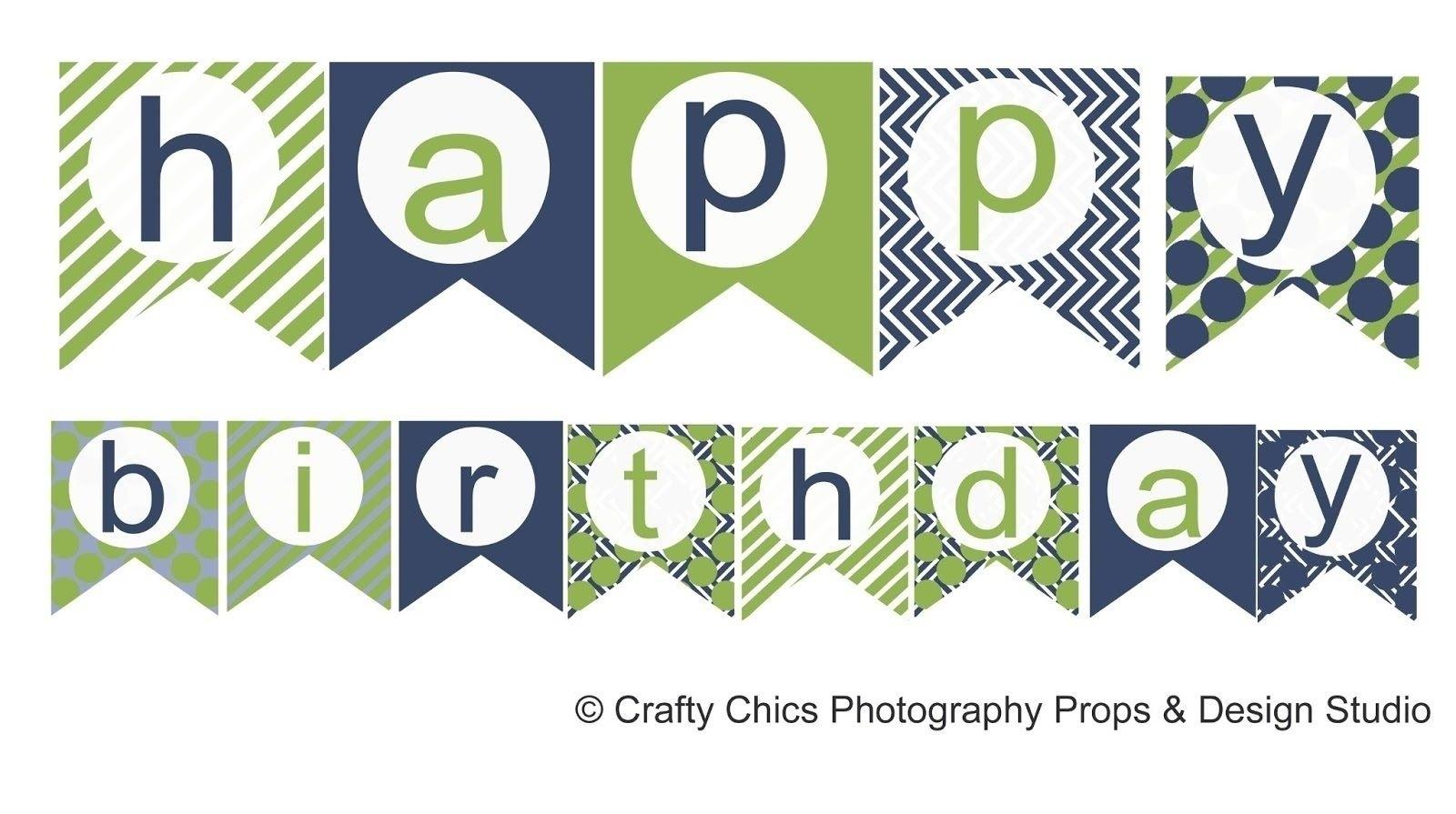 Happy Birthday Banner Template Printable | World Of Label - Free Printable Happy Birthday Banner Templates