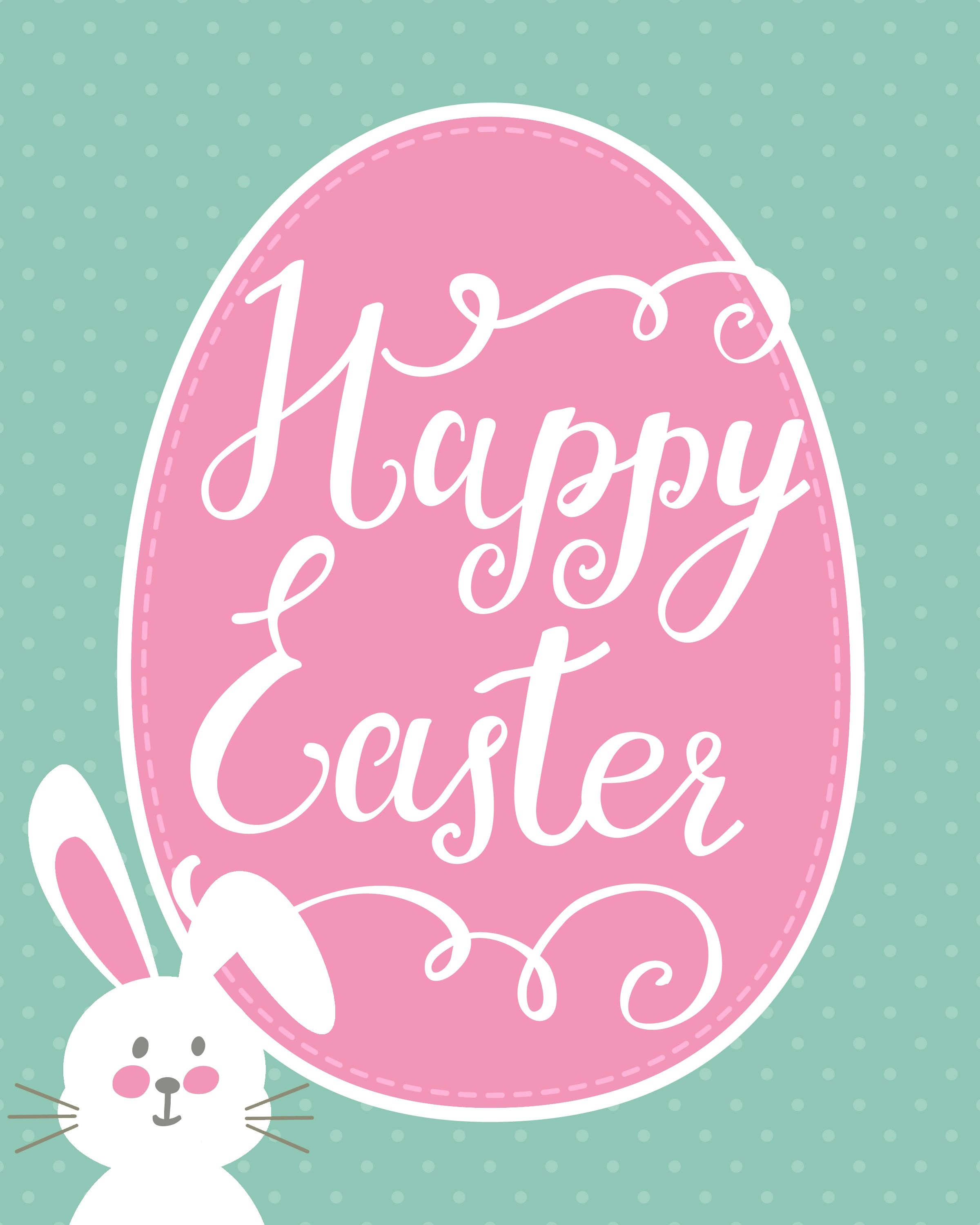 Happy Easter Bunny Printable   Holidays - Easter   Happy Easter - Free Printable Easter Images