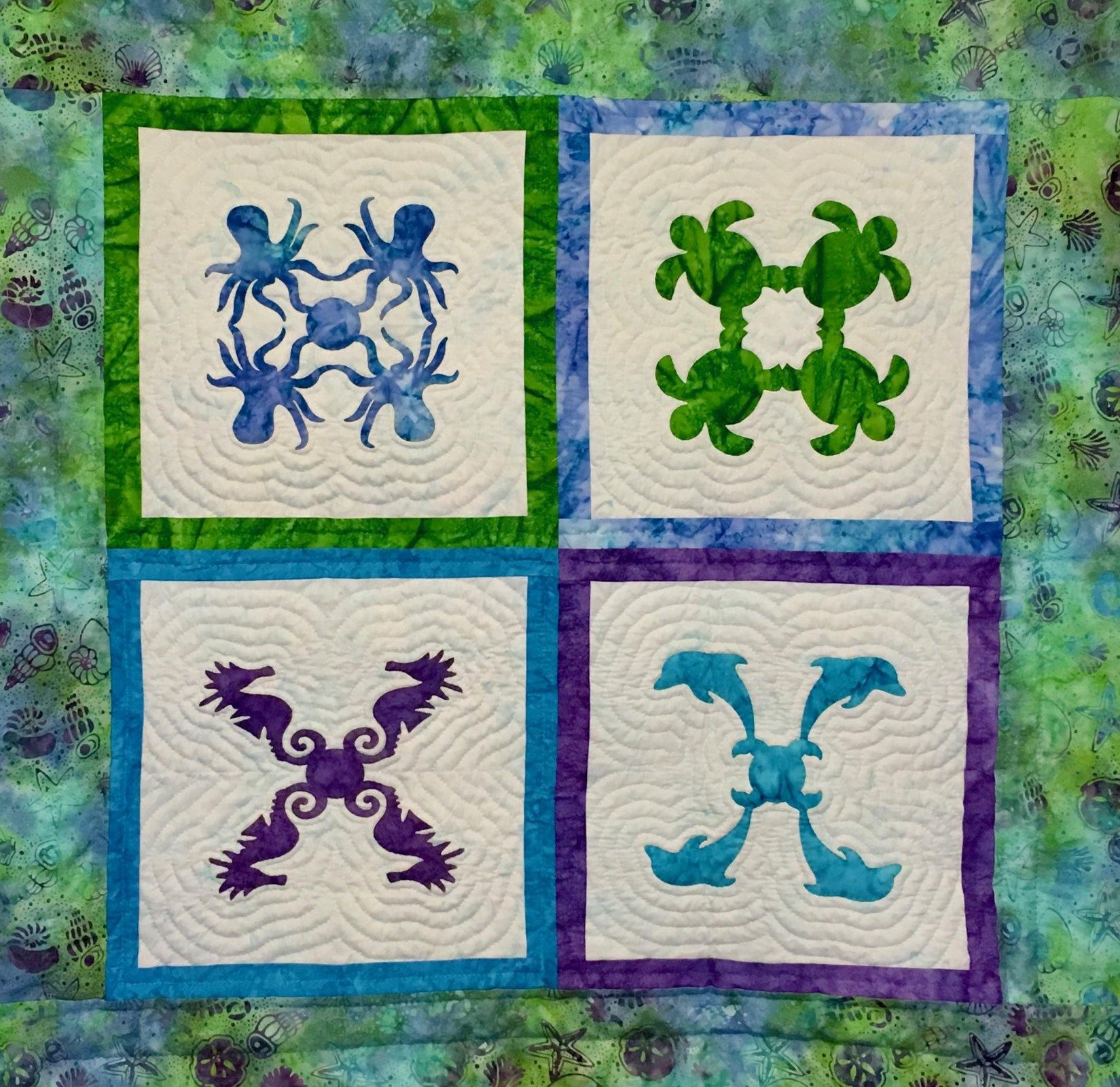 Hawaiian Applique Patterns - Free Printable Hawaiian Quilt Patterns