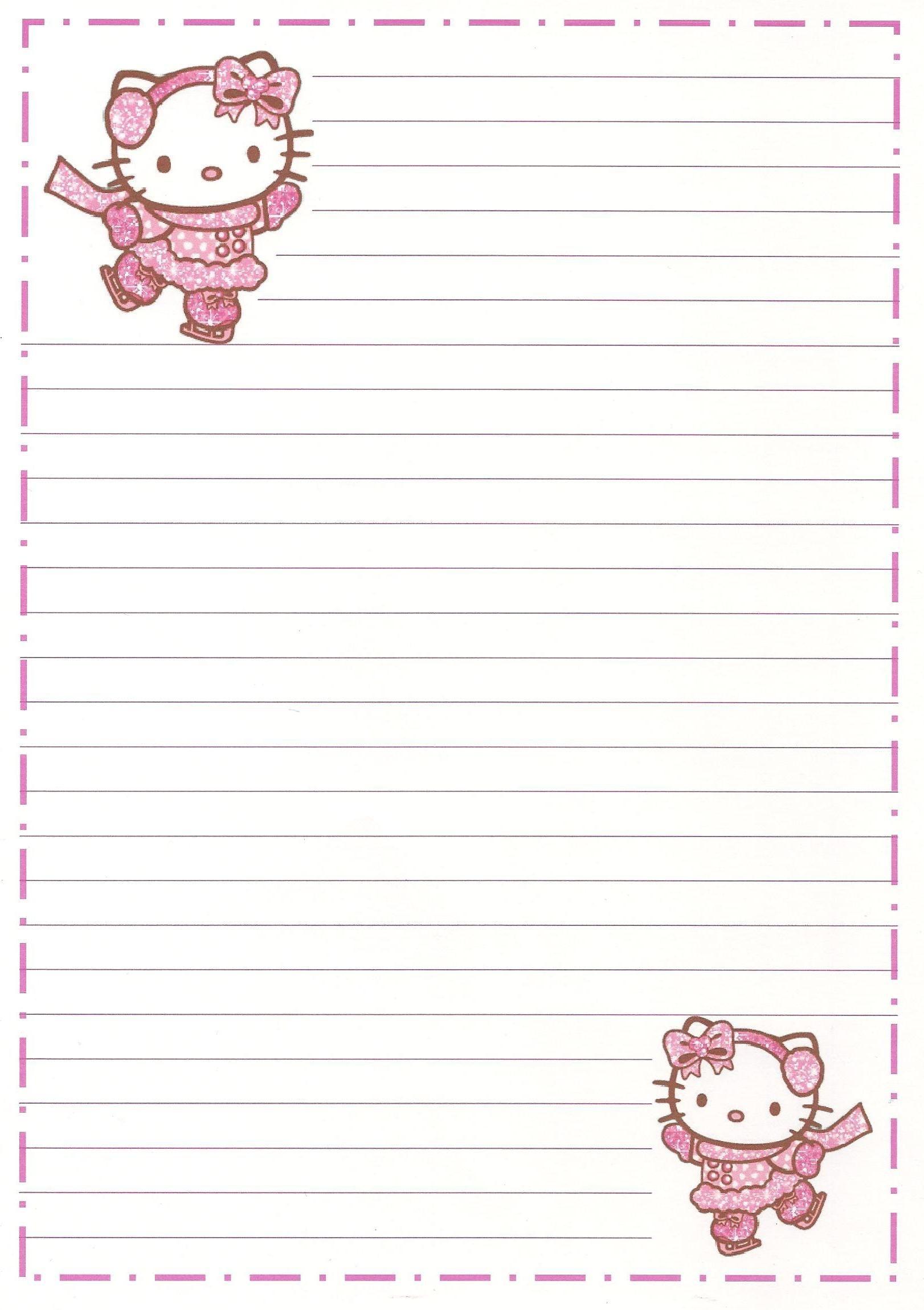 Hello Kitty | Borders,stationary,backgrounds | Hello Kitty, Kitty - Free Printable Hello Kitty Stationery