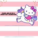 Hello Kitty Invitation Template   Portrait   Free Printable   Free Printable Hello Kitty Baby Shower Invitations