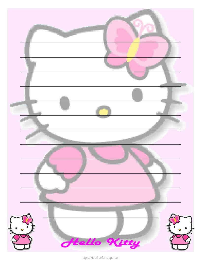 Hello Kitty Printables Hello Kitty Printable Letter Stationary Hello - Free Printable Hello Kitty Stationery
