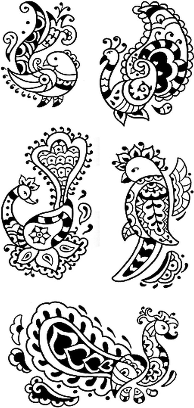 Henna Birds Raven Dove Swallow Eagle Tattoo Designs - Tattoos Book - Free Printable Henna Tattoo Designs