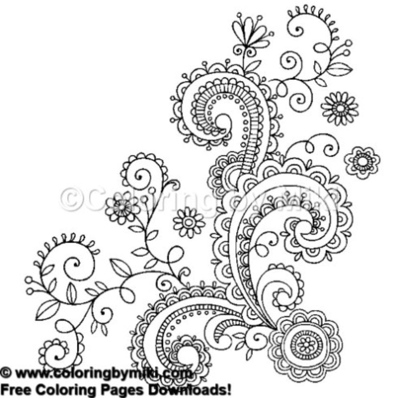 Henna Tattoo Design Coloring Page #653   Boho / Tribal - Free - Free Printable Henna Tattoo Designs