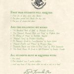 Here Is Your List For Books And Equipment | Hogwarts School Of   Hogwarts Acceptance Letter Template Free Printable