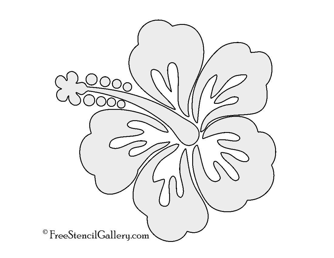 Hibiscus Flower Stencil | Free Stencil Gallery | Stencils | Free - Free Printable Stencils