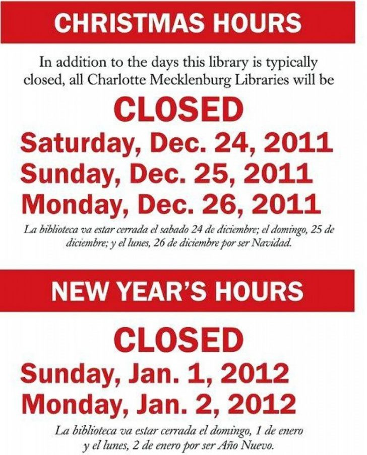 Free Printable Holiday Closed Signs