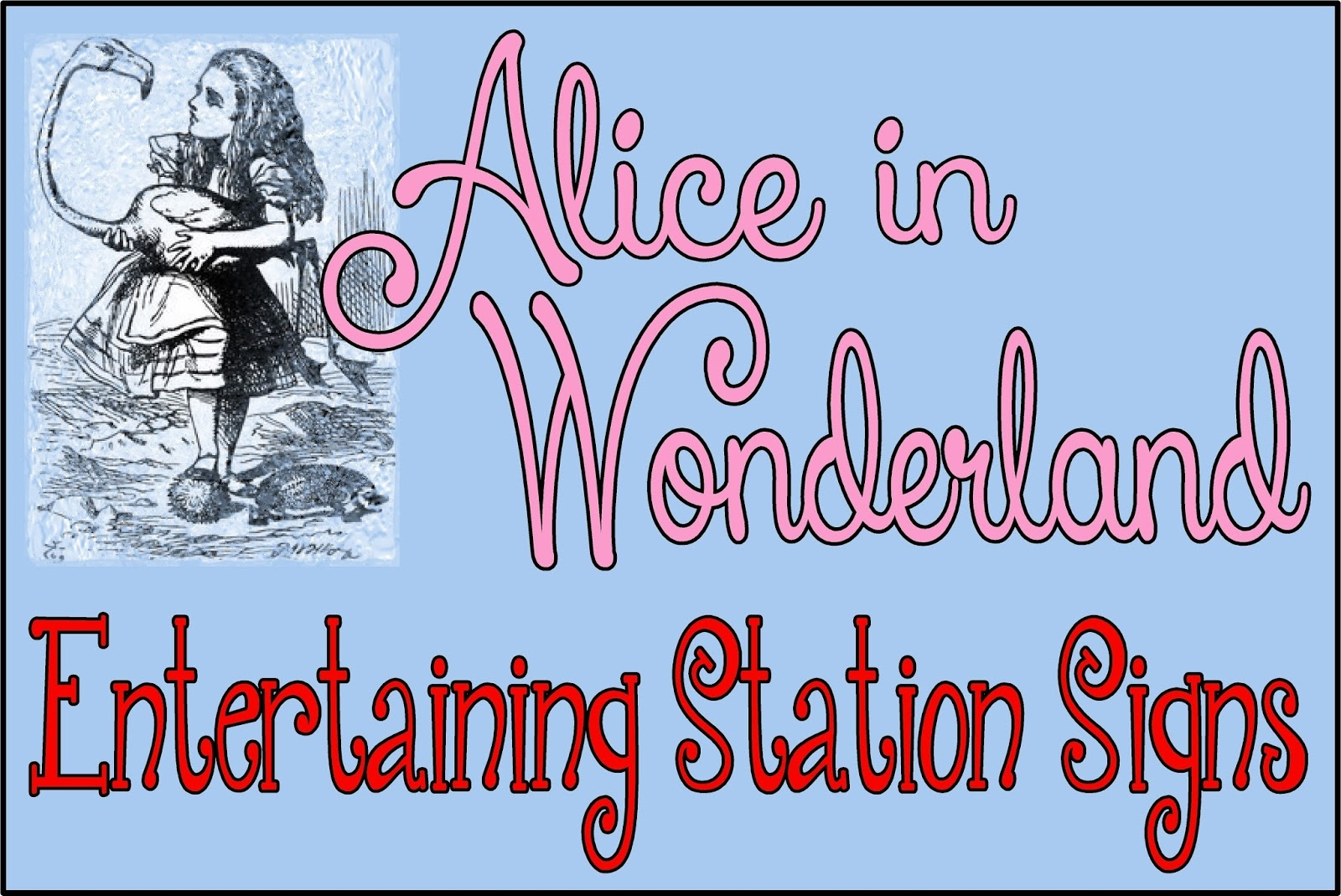 Hollyshome Family Life: Alice In Wonderland Party - Entertaining - Alice In Wonderland Signs Free Printable