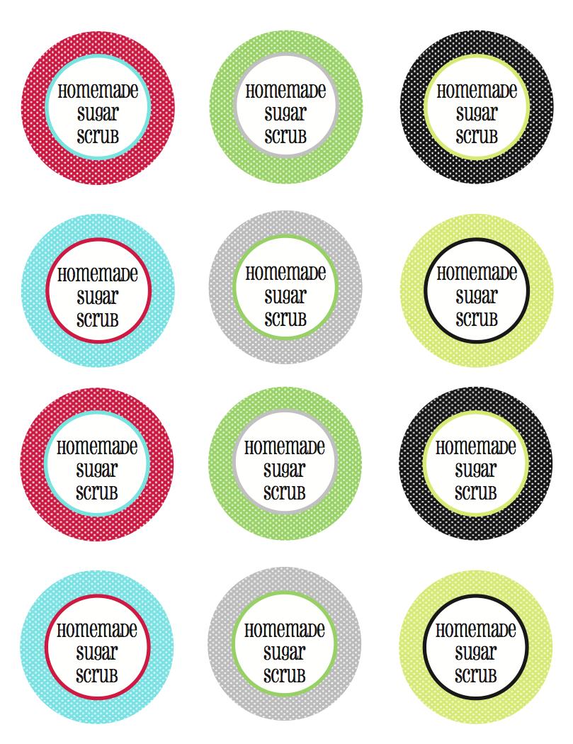 Homemade Sugar Scrub With Free Printable Tags And Labels   Less Than - Free Printable Sugar Scrub Labels