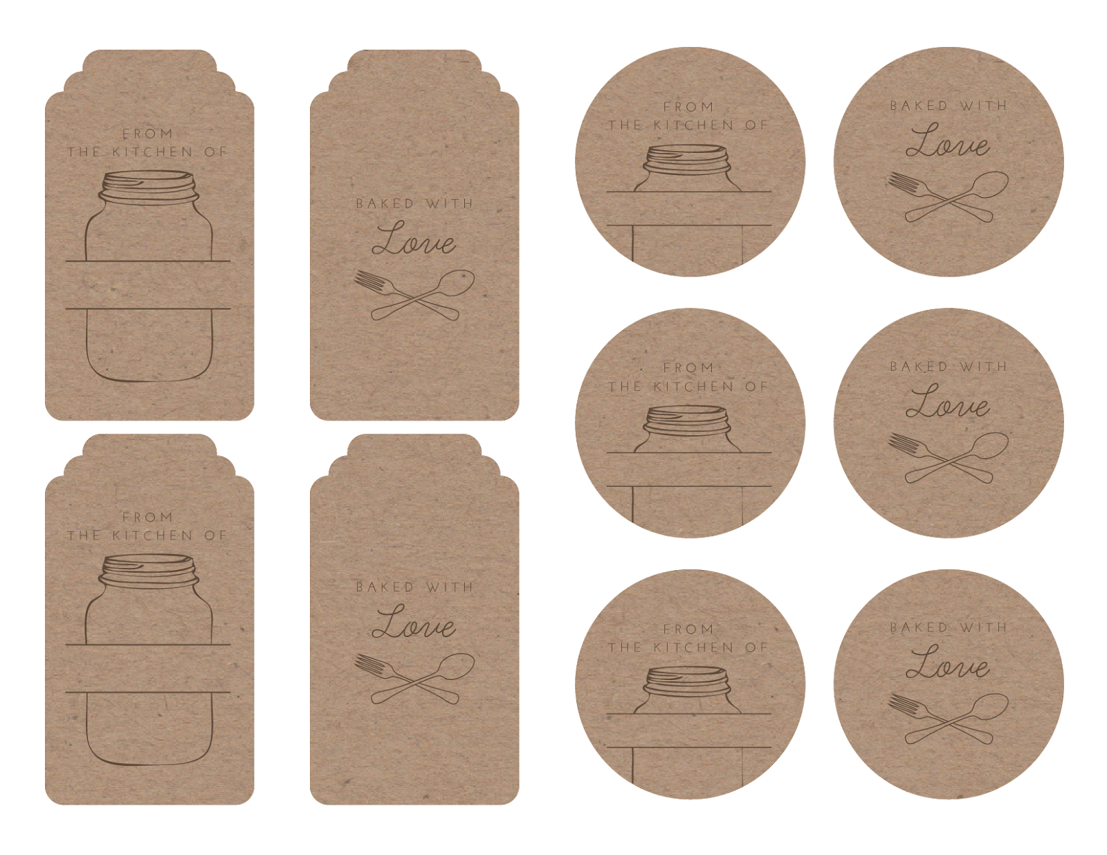 Homemade Tags For Your Baked Goods   Printables & Graphics   Bake - Free Printable Baking Labels