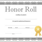 Honor Roll Certificate Template   How To Craft A Professional   Free Printable Honor Roll Certificates Kids